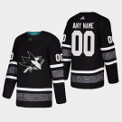 San Jose Sharks #00 Custom All-Star Game Parley Game Black Stitched Jersey
