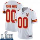 Men's Chiefs Customized White Custom Stitched Jersey Super Bowl LIII