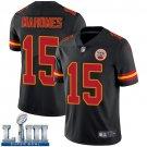 Patrick Mahomes Men's Black Stitched Jersey Super Bowl LIII #15 Chiefs
