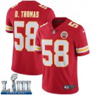 Men's Chiefs #58 Derrick Thomas Red Stitched Jersey Super Bowl LIII