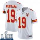 Men's Chiefs #19 Joe Montana White Stitched Jersey Super Bowl LIII