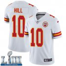 Men's Chiefs #10 Tyreek Hill White Stitched Jersey Super Bowl LIII