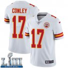 Men's Chiefs #17 Chris Conley White Stitched Jersey Super Bowl LIII