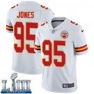 Men's Chiefs #95 Chris Jones White Stitched Jersey Super Bowl LIII