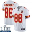 Men's Chiefs #88 Tony Gonzalez White Stitched Jersey Super Bowl LIII