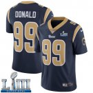 Men's Aaron Donald Rams Navy Blue Stitched Jersey Super Bowl LIII #99 Home