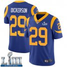 Men's Eric Dickerson Rams Royal Blue Stitched Jersey Super Bowl LIII #29