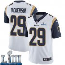 Men's Eric Dickerson Rams White Stitched Jersey Super Bowl LIII #29 Road