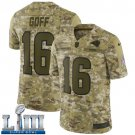 Men's Jared Goff Rams Camo Stitched Jersey Super Bowl LIII #16