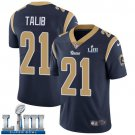 Men's Aqib Talib Rams Navy Blue Stitched Jersey Super Bowl LIII #21 Home