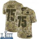 Men's Deacon Jones Rams Camo Stitched Jersey Super Bowl LIII #75