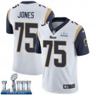 Men's Deacon Jones Rams White Stitched Jersey Super Bowl LIII #75 Road
