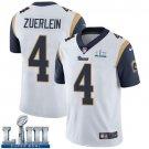 Men's Greg Zuerlein Rams White Stitched Jersey Super Bowl LIII #4 Road