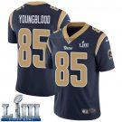 Men's Jack Youngblood Rams Navy Blue Stitched Jersey Super Bowl LIII #85 Home