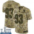Men's Ndamukong Suh Rams Camo Stitched Jersey Super Bowl LIII #93