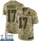 Men's Robert Woods Rams Camo Stitched Jersey Super Bowl LIII #17