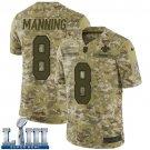 Saints #8 Archie Manning Men's Camo Stitched Jersey Super Bowl LIII