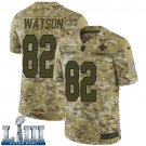Saints #82 Benjamin Watson Men's Camo Stitched Jersey Super Bowl LIII
