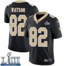 Saints #82 Benjamin Watson Men's Home Black Stitched Jersey Super Bowl LIII