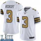 Saints #3 Bobby Hebert Men's White Stitched Jersey Super Bowl LIII Rush