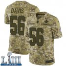 Saints #56 DeMario Davis Men's Camo Stitched Jersey Super Bowl LIII