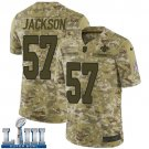 Saints #57 Rickey Jackson Men's Camo Stitched Jersey Super Bowl LIII