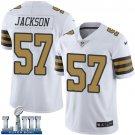Saints #57 Rickey Jackson Men's White Stitched Jersey Super Bowl LIII Rush