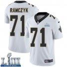 Saints #71 Ryan Ramczyk Men's Road White Stitched Jersey Super Bowl LIII