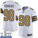 Saints #98 Sheldon Rankins Men's White Stitched Jersey Super Bowl LIII Rush