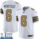 Saints #6 Thomas Morstead Men's White Stitched Jersey Super Bowl LIII Rush