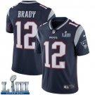 Patriots #12 Tom Brady Men's Home Navy Blue Stitched Jersey Super Bowl LIII