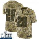 Patriots #28 James White Men's Camo Stitched Jersey Super Bowl LIII