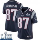 Patriots #87 Rob Gronkowski Men's Home Navy Blue Stitched Jersey Super Bowl LIII