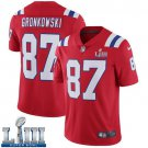 Patriots #87 Rob Gronkowski Men's Alternate Red Stitched Jersey Super Bowl LIII