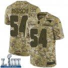 Patriots #54 Tedy Bruschi Men's Camo Stitched Jersey Super Bowl LIII