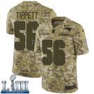 Patriots #56 Andre Tippett Men's Camo Stitched Jersey Super Bowl LIII