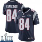 Patriots #84 Cordarrelle Patterson Men's Home Navy Blue Stitched Jersey Super Bowl LIII