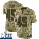 Patriots #45 Donald Trump Men's Camo Stitched Jersey Super Bowl LIII