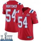 Patriots #54 Dont'a Hightower Men's Alternate Red Stitched Jersey Super Bowl LIII
