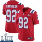 Patriots #92 James Harrison Men's Alternate Red Stitched Jersey Super Bowl LIII