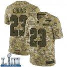 Patriots #23 Patrick Chung Men's Camo Stitched Jersey Super Bowl LIII