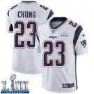 Patriots #23 Patrick Chung Men's Road White Stitched Jersey Super Bowl LIII