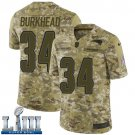 Patriots #34 Rex Burkhead Men's Camo Stitched Jersey Super Bowl LIII
