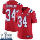Patriots #34 Rex Burkhead Men's Alternate Red Stitched Jersey Super Bowl LIII