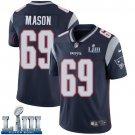 Patriots #69 Shaq Mason Men's Home Navy Blue Stitched Jersey Super Bowl LIII