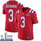 Patriots #3 Stephen Gostkowski Men's Alternate Red Stitched Jersey Super Bowl LIII