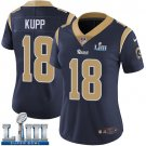 Women's Cooper Kupp Rams Navy Blue Stitched Jersey Super Bowl LIII #18 Home