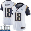 Women's Cooper Kupp Rams White Stitched Jersey Super Bowl LIII #18 Road