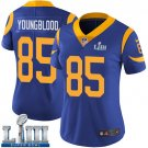 Women's Jack Youngblood Rams Royal Blue Stitched Jersey Super Bowl LIII #85