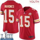 Patrick Mahomes Youth Red Stitched Jersey Super Bowl LIII #15 Chiefs